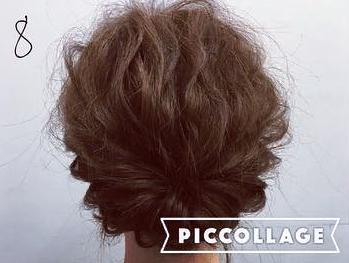 ミディアムヘアでも華やかに♡くるりんぱ×ロープ編みの簡単まとめ髪アレンジ8