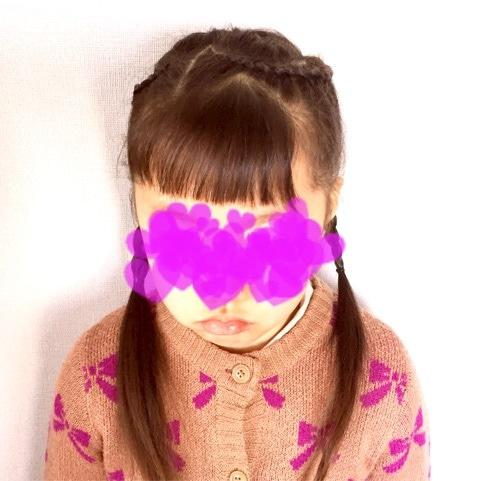 お子さまのイベントに!アクセサリー不要の編み込みハートアレンジ♡front