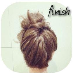 髪が伸びてきてまとめたい時に!ちょっとアクセントを加えた簡単な高めお団子アレンジ☆