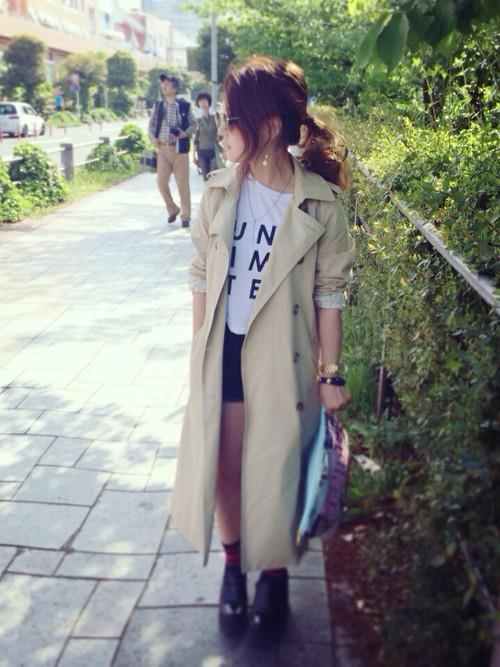 ロングトレンチコートに似合うヘアスタイル