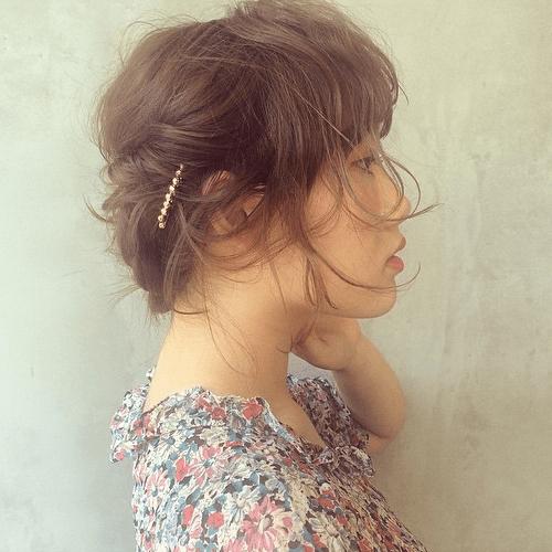 エフォートレス巻きヘアスタイル