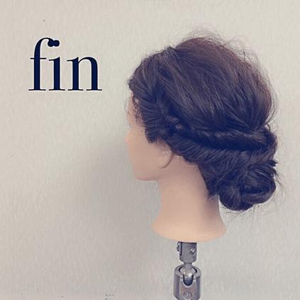 フィッシュボーンの技ありヘアスタイル