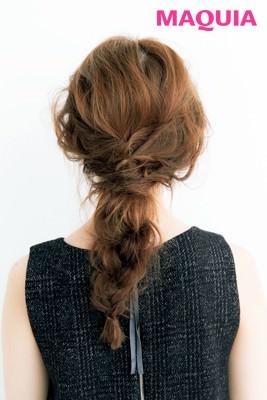 トレンドのローアップヘアスタイル