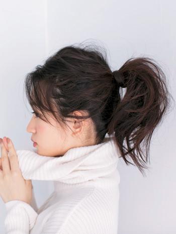 ミディアムヘア向け簡単こなれヘアスタイル