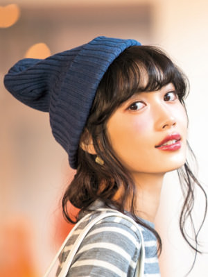 ニット帽に似合うヘアアレンジ