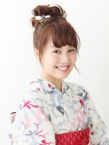 夏到来!浴衣に似合うヘアスタイル☆3
