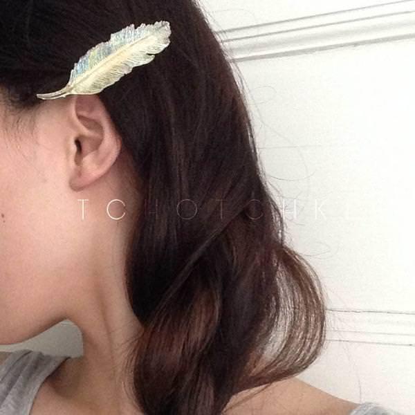 今年流行!クリアバレッタと相性抜群☆ヘアスタイル6
