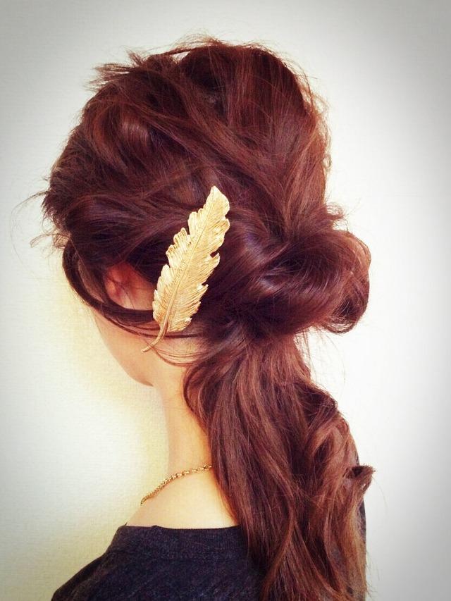 簡単可愛い♪バレッタを使ったヘアスタイル5