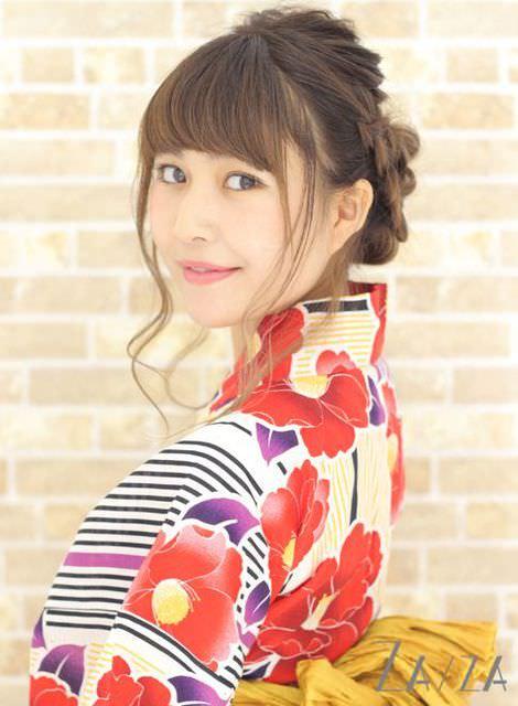 夏到来!浴衣に似合うヘアスタイル☆6