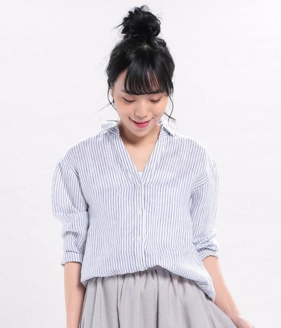 首元スッキリ♪「スキッパーシャツ」に似合うヘアスタイル11