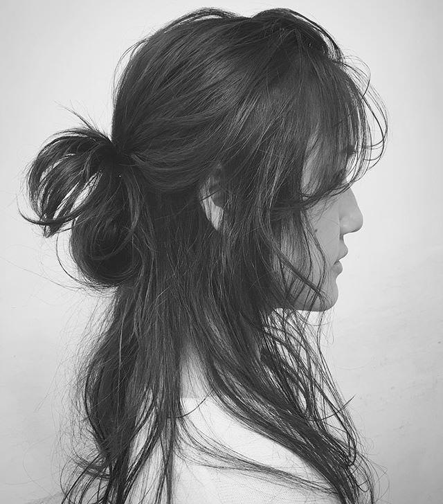うざバングに似合うヘアスタイル4