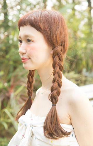夏のロングヘア×三つ編み