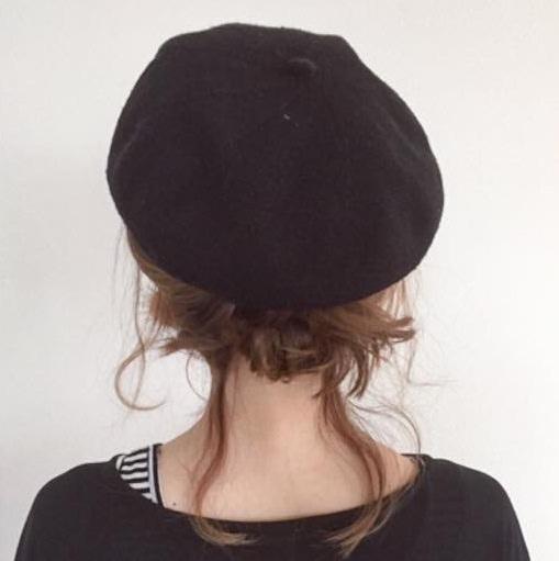 被るだけで可愛い☆ベレー帽に似合うヘアスタイル15選3