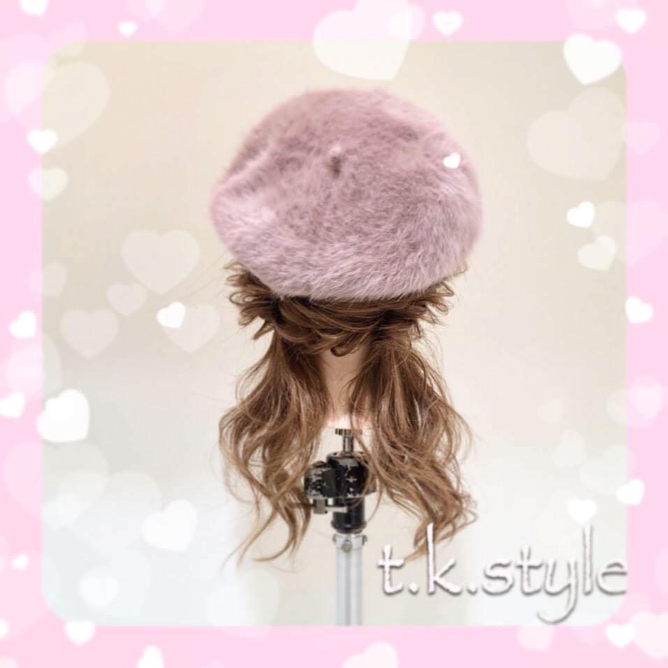 被るだけで可愛い☆ベレー帽に似合うヘアスタイル15選8