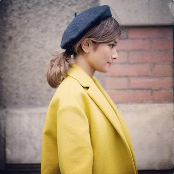 被るだけで可愛い☆ベレー帽に似合うヘアスタイル4
