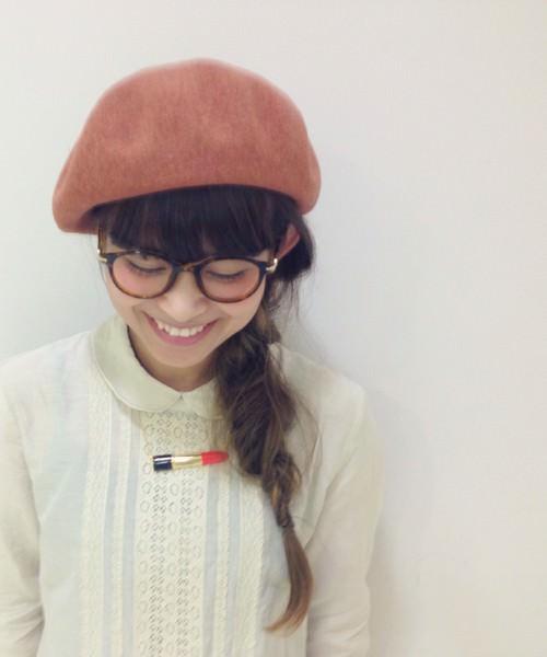 被るだけで可愛い☆ベレー帽に似合うヘアスタイル5