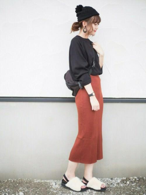 リブスカートに似合うヘアスタイル5