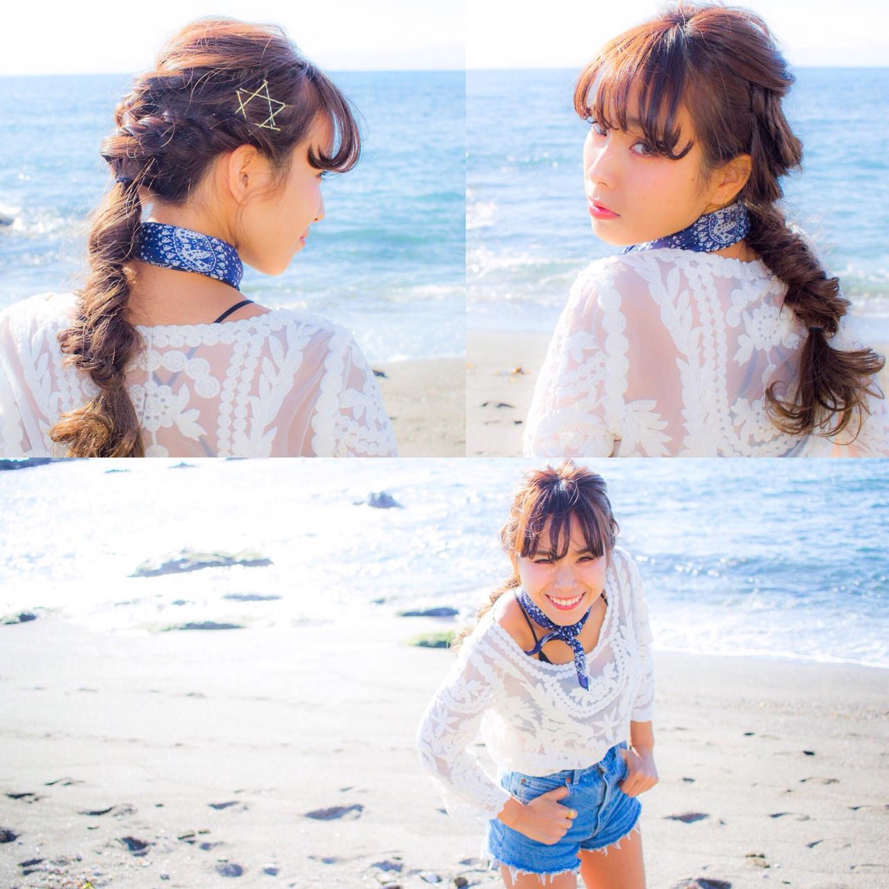 ロープ編みが可愛いヘアスタイル3