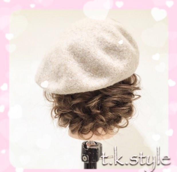 被るだけで可愛い☆ベレー帽に似合うヘアスタイル15選9