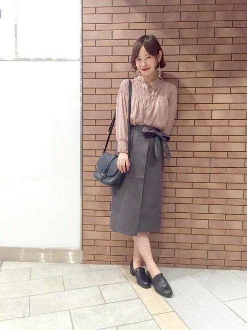 ラップスカートに似合うヘアスタイル☆2