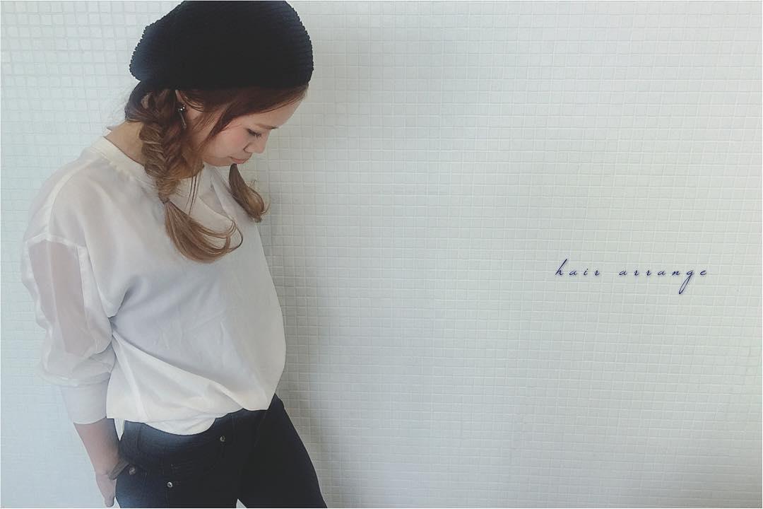 被るだけで可愛い☆ベレー帽に似合うヘアスタイル15選5