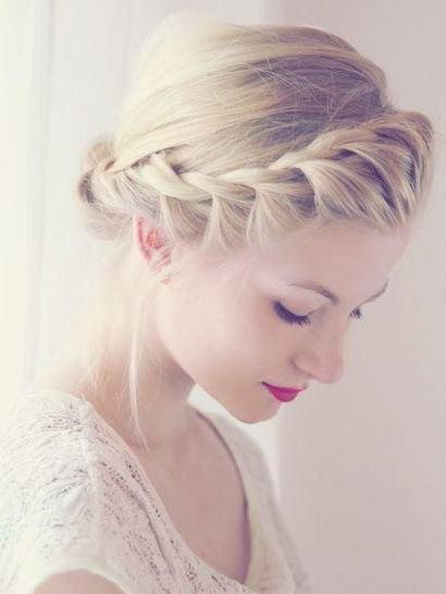 ロープ編みが可愛いヘアスタイル