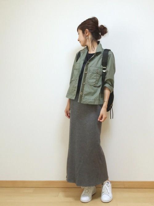 リブスカートに似合うヘアスタイル1