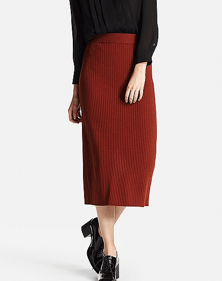 リブスカートに似合うヘアスタイル