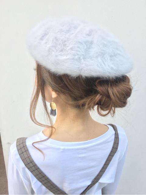 被るだけで可愛い☆ベレー帽に似合うヘアスタイル15選10