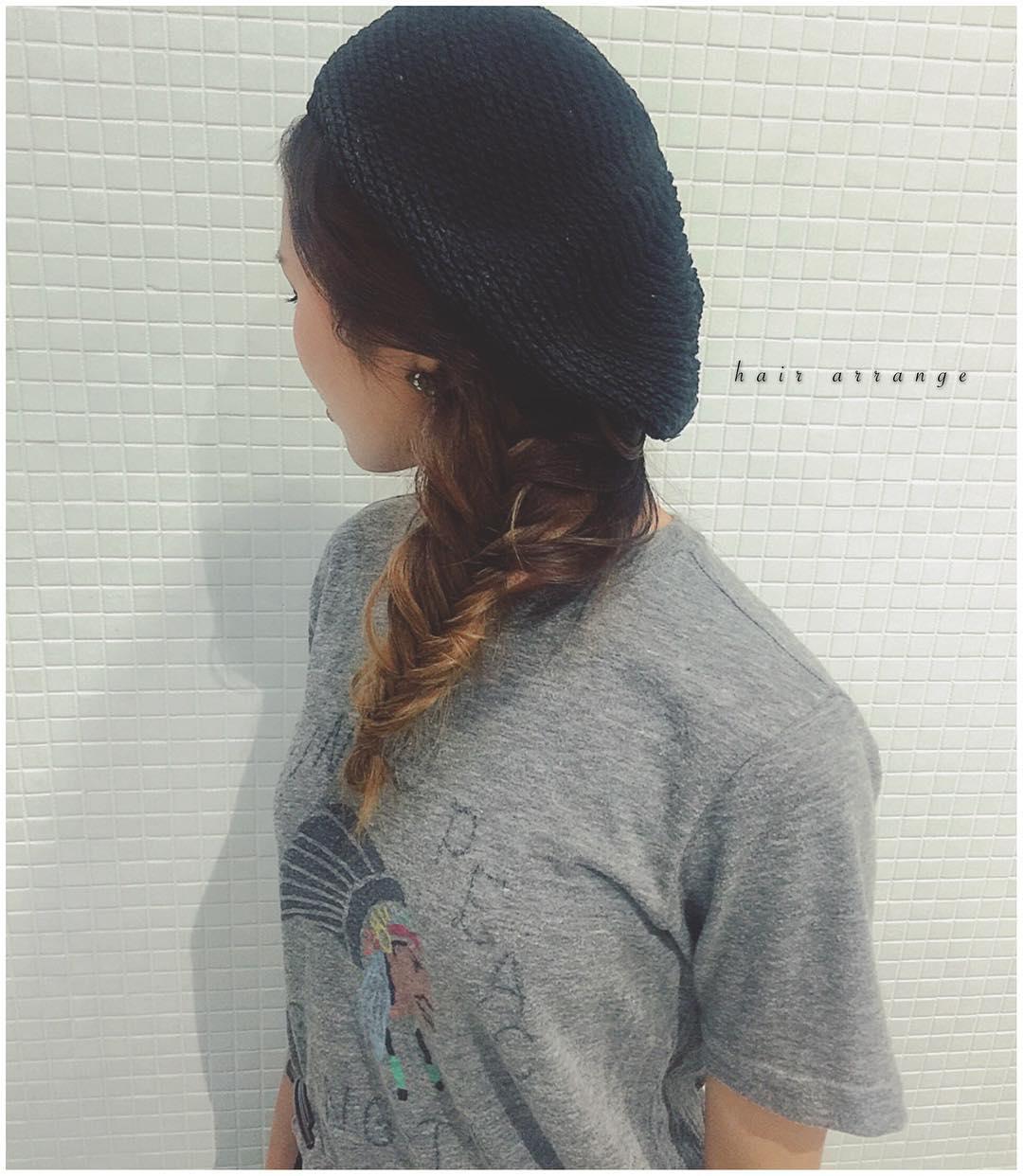 被るだけで可愛い☆ベレー帽に似合うヘアスタイル15選4