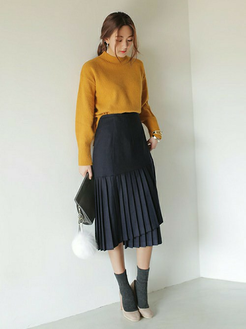 ラップスカートに似合うヘアスタイル☆1