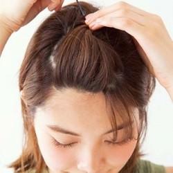 前髪をあげてさわやかさUP♡ ターバンサイド結び1