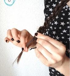 華やか編み込みポニーテール6