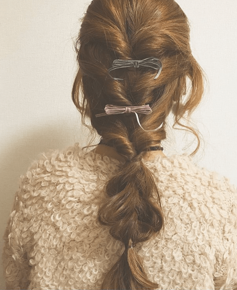 ループカーディガンに似合うヘアスタイル