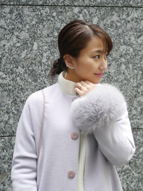 ファー付きコートに似合うヘアスタイル