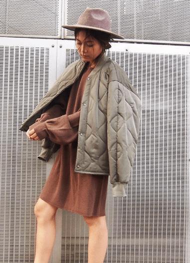 キルティングジャケットに似合うヘアスタイル2