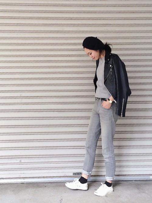 ライダースジャケットに似合うヘアスタイル