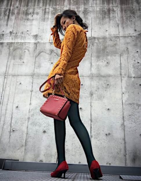 カラータイツの色別ぴったりなコーデ&ヘアスタイル