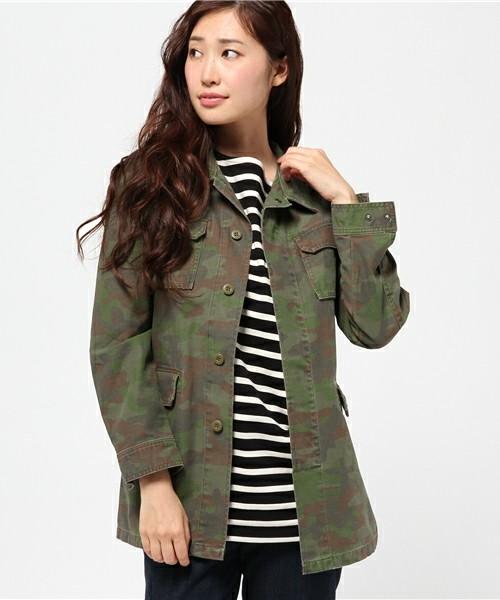 迷彩柄ジャケットに似合うヘアスタイル1