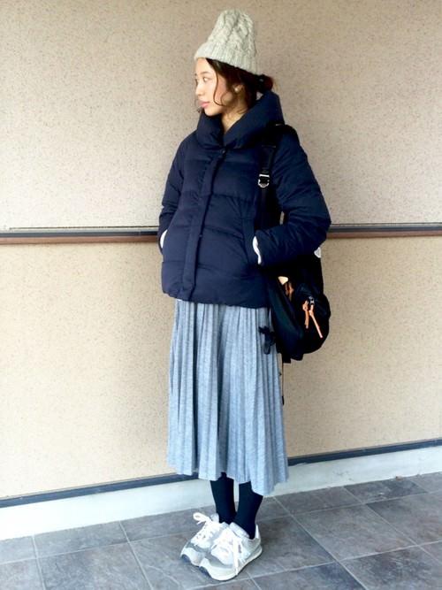 暖かくて上品に♪ダウンジャケットに似合うヘアスタイル5