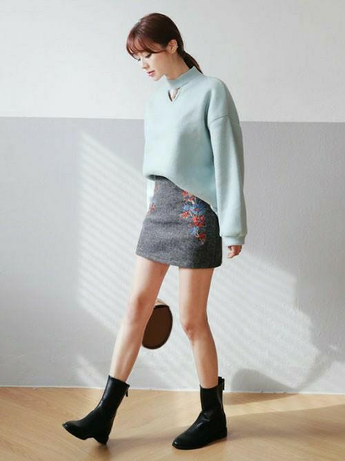 ミニスカートに似合うヘアスタイル2