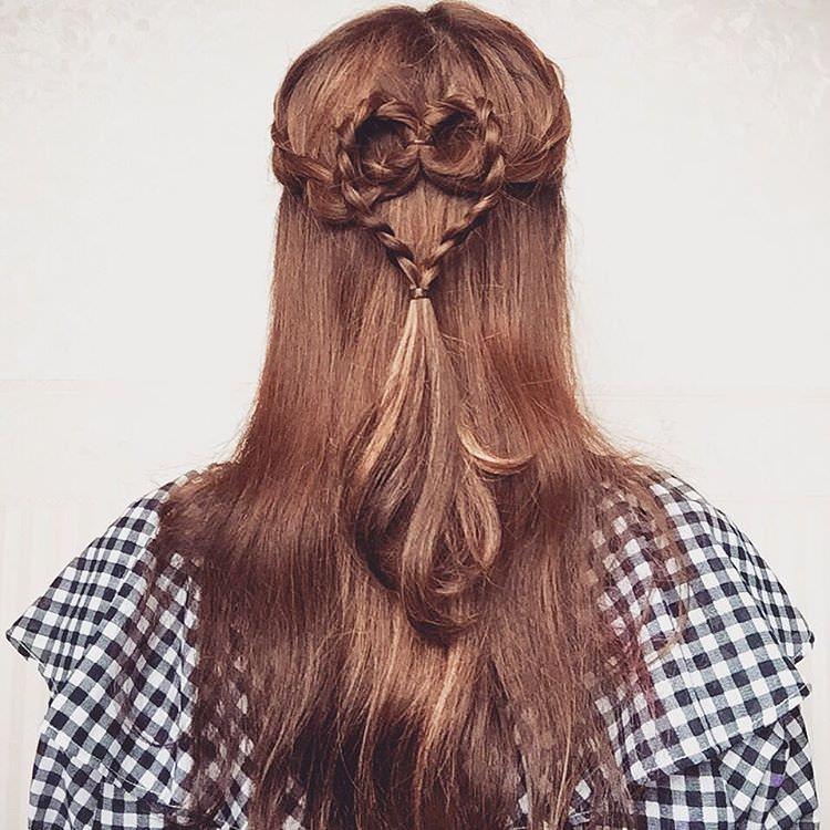 ヘアアクセ要らず!自分の髪で作る特別なスタイル☆5