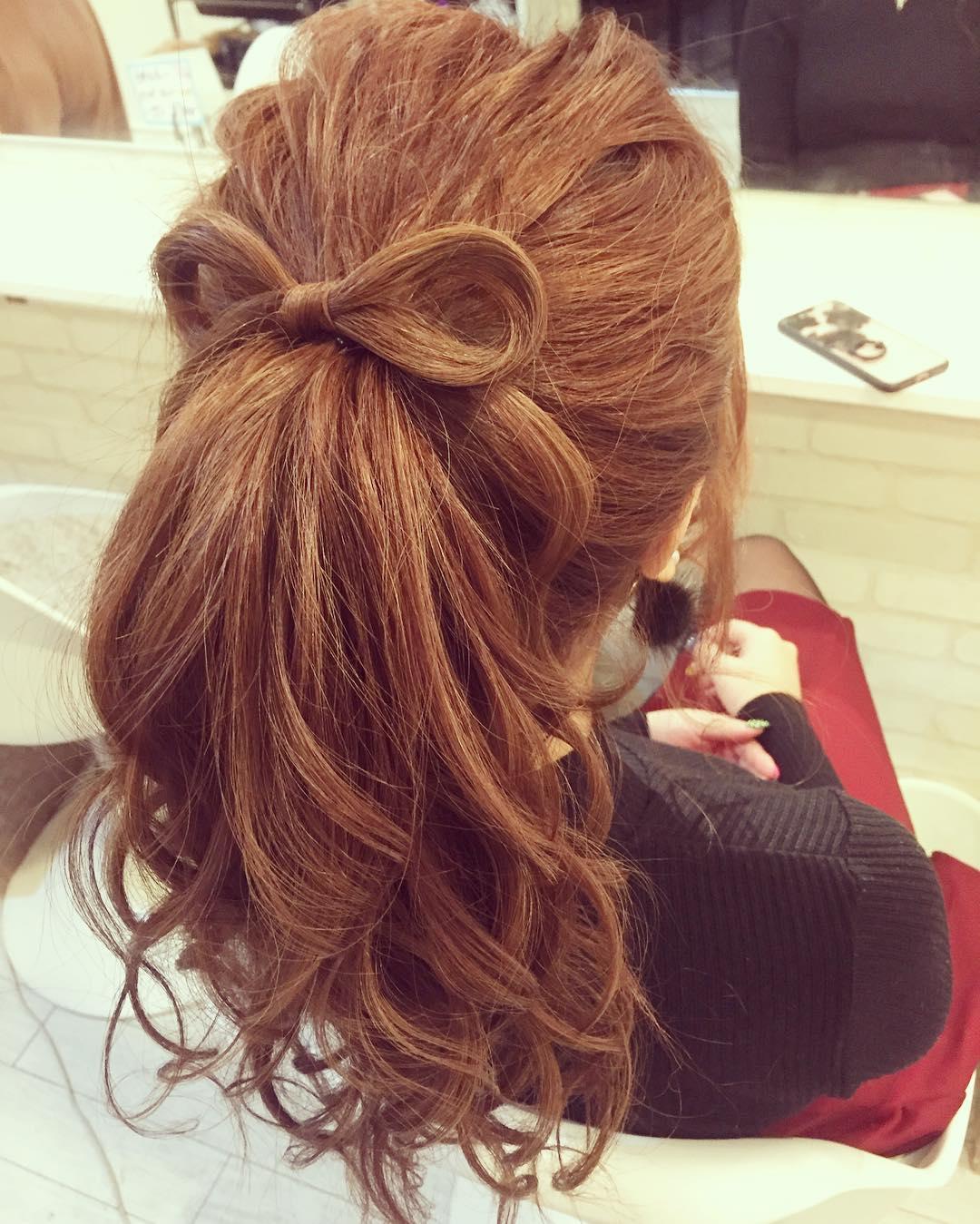 ヘアアクセ要らず!自分の髪で作る特別なスタイル☆1