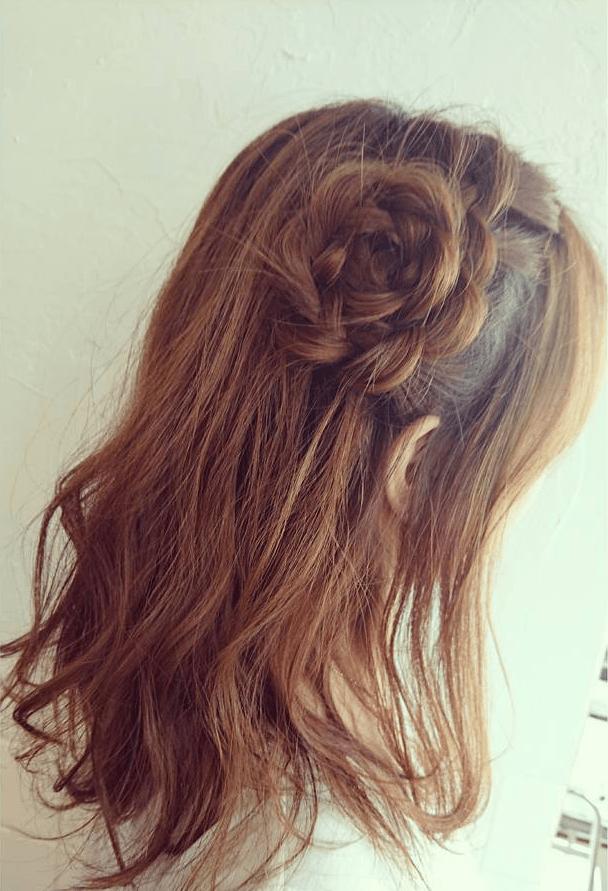 ヘアアクセ要らず!自分の髪で作る特別なスタイル☆4