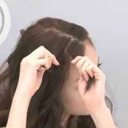 簡単!ツイスト前髪のやり方☆2