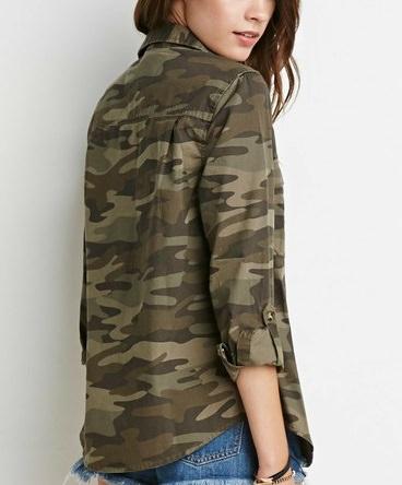 迷彩柄ジャケットに似合うヘアスタイル