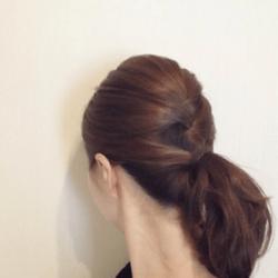 編み込み風こなれシニヨンヘア♡5