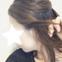 編み込み風こなれシニヨンヘア♡4