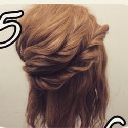 ツイストで作る☆華やかなまとめ髪5