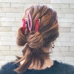 イベントに使える!自分の髪で作るリボンヘア5